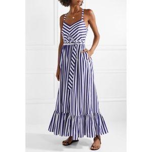 J. Crew • NWT Striped Mason Ruffle Maci Dress